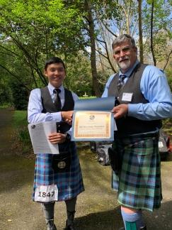 Bill Merriman Memorial: Grade 4 Piping, Junior Division – Alex Christopher Chan III